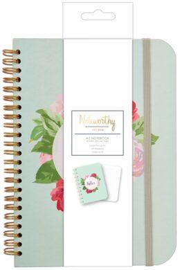 DO blok NOT 101113 Graphic Florals A5 spirála 80l(5038041025060)