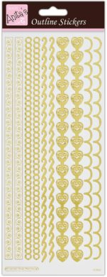 žDO samolepky ANT 810276 Border -  Gold on White  (5038041025565)
