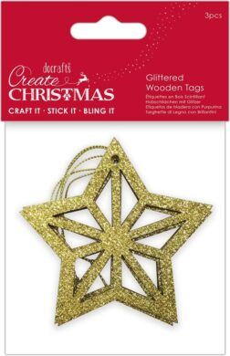 DO dekorace PMA 359927 dřevo hvězda zlatá 3ks(5038041058211)