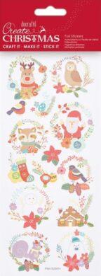 DO samolepky PMA 828914 vánoční Folk Wreaths(5038041058365)