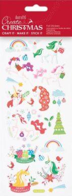 DO samolepky PMA 828916 vánoční Unicorn Rainbows(5038041058389)