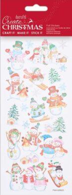 DO samolepky PMA 828920 vánoční Ski Snowmen(5038041058426)