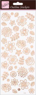 DO samolepky ANT 810281 Flowers Rose Gold On White(5038041067763)
