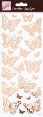 DO samolepky ANT 810284 Butterflies Rose Gold On White(5038041067794)