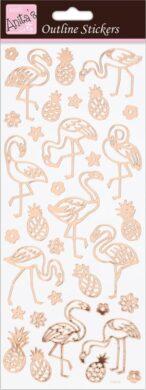 DO samolepky ANT 810285 Flamingos Rose Gold On White(5038041067800)