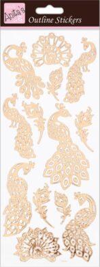 DO samolepky ANT 810286 Peacocks Rose Gold On White(5038041067817)