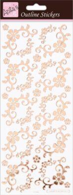 DO samolepky ANT 810288 Fancyfull Floral Corners Rose Gold On White(5038041067831)