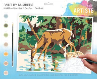 malování podle čísel DOA 550701 - Woodland Deer(5038041074112)