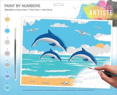 malování podle čísel DOA 550703 - Leaping Dolphins(5038041074136)