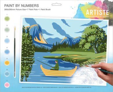 malování podle čísel DOA 550704 - Lakes + Mountains(5038041074143)