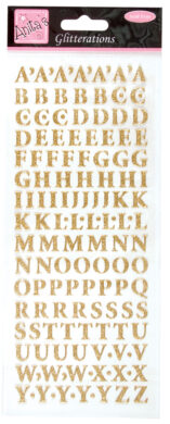 DO samolepky ANT 8181000 písmena zlatá glitr(5038041930500)
