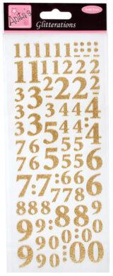 DO samolepky ANT 8181004 čísla zlatá glitr(5038041930517)