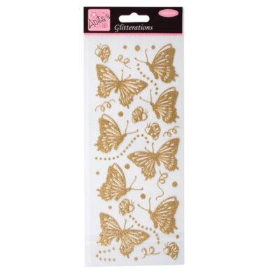 DO samolepky ANT 8181016 motýli glitr GOLD(5038041930548)