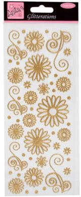 DO samolepky ANT 8181020 květy zlaté glitr(5038041930555)