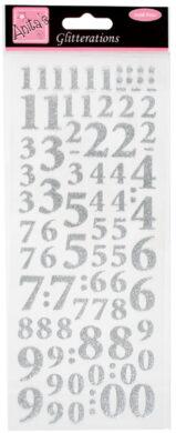 DO samolepky ANT 8181005 čísla stříbrná glitr(5038041930579)