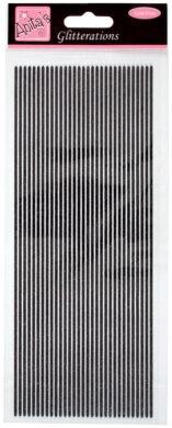 DO samolepky ANT 8181015 proužku glitter černé(5038041930654)