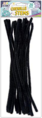 drát plyšový CPT 660001 300mm 20ks černý(5050784087440)