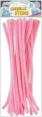 drát plyšový CPT 660007 300mm 20ks růžový(5050784087501)