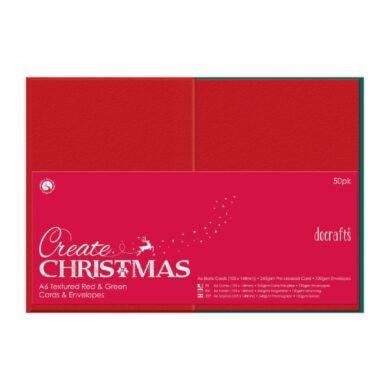 DO obálky+karty PMA 151904 A6 červená/zelená 50ks(5055170162282)
