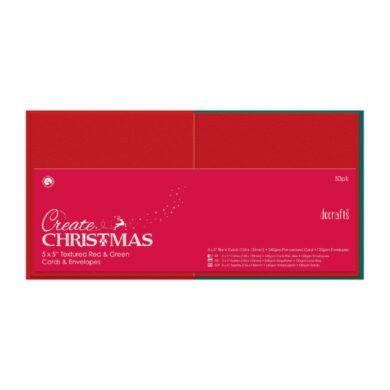 DO obálky+karty PMA 151905 čtverec červená/zelená 50ks(5055170162299)