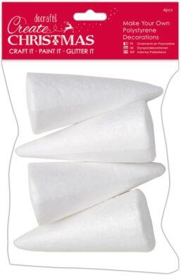 žDO polystyren kužel PMA 827907 12,5cm 4ks(5055170165887)