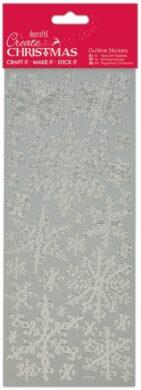 DO samolepky PMA 810922 vánoční Snowflakes Silver(5055170166334)