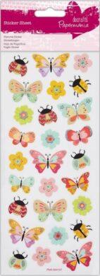 DO samolepky glitrové PMA 804107 motýli(5055170187940)