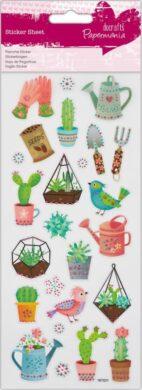 DO samolepky glitrové PMA 804109 cactus garden(5055170187964)