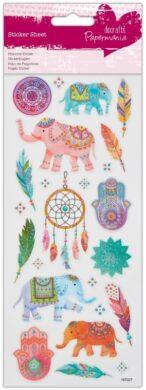 DO samolepky glitrové PMA 804110 Indian Elephants(5055170187971)