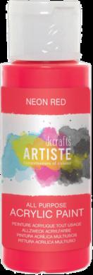 DO barva akryl. DOA 766075 59ml Neon Red(5055198700978)