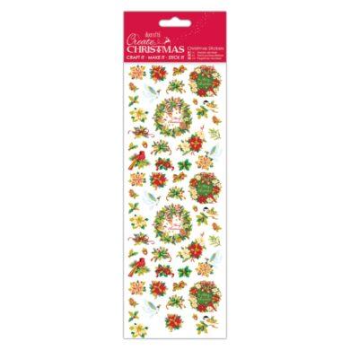 DO samolepky vánoční PMA 804921 Wreath Sentiment(5055198816594)