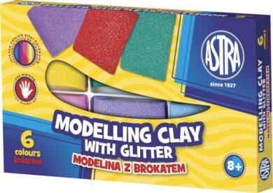 modelína ASTRA teplem tvrditelná  6 barev - GLITTER(5900263040162)