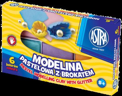 modelína ASTRA teplem tvrditelná  6 barev - PASTEL GLITTER(5901137112268)