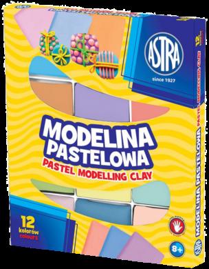 modelína ASTRA teplem tvrditelná 12 barev - PASTEL(5901137125022)