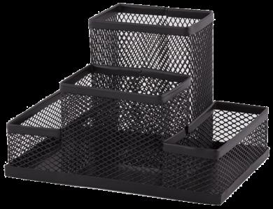 stojánek drátěný víceúčelový Combo černý 4 přihrádky(5902308715646)