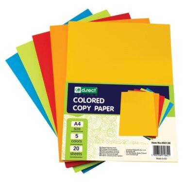 barevný papír A4 80g 100listů/5barev po 20ks 960138(5902308718821)