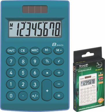 kalkulačka KW TR-252-B 8 míst modrá 120-1771(5903364206963)
