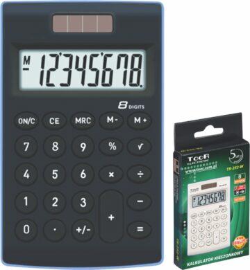 kalkulačka KW TR-252-K 8 míst černá 120-1772(5903364210298)