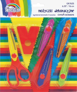 nůžky kreativní sada 5ks Fiorello 130-1674(5903364210328)