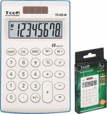kalkulačka KW TR-252-W 8 míst bílá 120-1418(5903364216108)