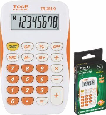 kalkulačka KW TR-295-O 8 míst oranžová 120-1419(5903364216115)
