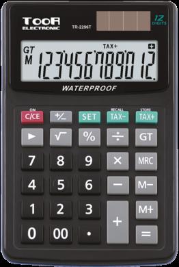 kalkulačka KW TR-2296T voděodolná 12 míst černá 120-1425(5903364216184)