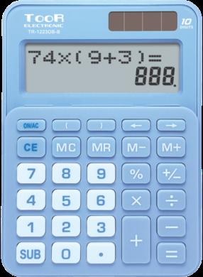 kalkulačka KW TR-1223DB-B dvouřádková modrá 120-1901(5903364218676)