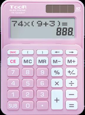 kalkulačka KW TR-1223DB-P dvouřádková růžová 120-1902(5903364218690)