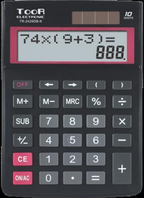 kalkulačka KW TR-2429DB-K dvouřádková černá 120-1903(5903364218737)