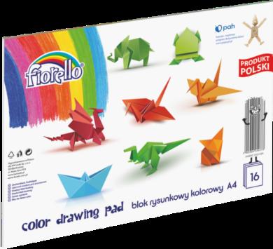 blok F barevný papír A4 mix 80g 16l 150-1436(5903364254773)