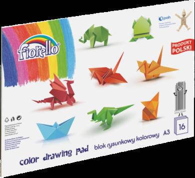 blok F barevný papír A3 mix 80g 16l 150-1437(5903364254780)
