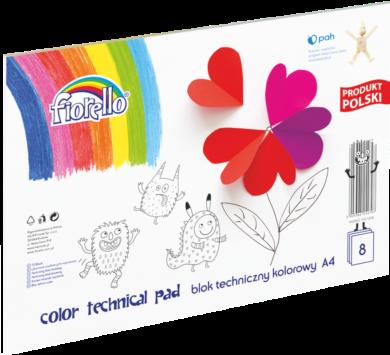 blok F barevný karton A4 mix 160g 8l 150-1438(5903364254797)