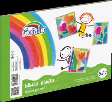 barevné papíry hedvábné Fiorello 5 ks x 12 bar. 170-2346(5903364256890)