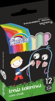 křídy Fiorello barevné 12ks 170-2135(5903364258245)